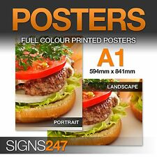A1 Poster Printing - Full colour Poster Printing Service - Matt, Satin or Gloss