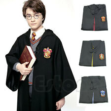 Harry Potter Robe Cloak Cape Costume Gryffindor/Slytherin/Hufflepuff/ Halloween