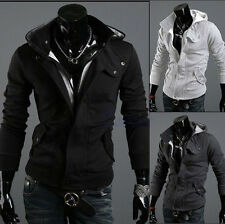 Fashion Korean TOP Men's Slim Designed Hooded Cardigan Coat Jacket Warm Fit New