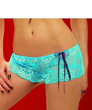 Caprice CAN CAN Short Brief Turquoise/Wine   Size Medium  12/14