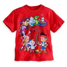 NWT Disney Store Jake and the Never Land Pirates Tee T-Shirt NEW FRed SSX 2 3
