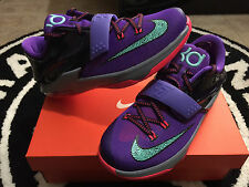 "Nike KD 7 VII ""534 Lightning"" Cave Purple Grape Grey GS PS Sz 5C-7y 653996-535"