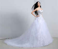 2015 100% Real Dress Ball Gown Wedding Dress Strapless Cheap In Stock Long White