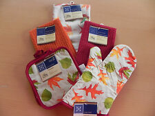 Lot of 6-Fall/Holiday-Kitchen Towels-Oven Mit-Potholders