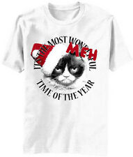 It's The Most Meh Time of Year Christmas Grumpy Cat T-Shirt Angry New