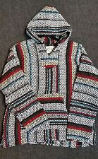 NWT SOFT INSIDE MULTICOLORED MEXICAN SURFER HOODIE BAJA JACKET COTTON BLEND