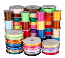 Wedding crafts Double faced side satin Ribbon 3mm 6mm 10mm 16mm 38mm 25yards hs