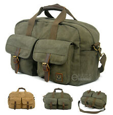 Canvas Travel Sports Weekend Hiking Shoulder Luggage Carry on Gym Messenger Bag
