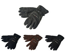1,4 Pair's Men's Warm Insulated Fleece Gloves Large One Size Adjustable
