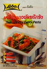 LOBO CURRY PASTE AUTHENTIC THAI 6 to Choose PANANG YELLOW GREEN MASAMAN SOUR