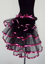Pink Black Burlesque Tutu Skirt Bustle Belt size XS S M L XL