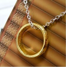 THE ONE RING Lord of the Rings Rule Them All Necklace Pendant Chain Hobbit + Bag