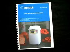 Zojirushi Bread Maker Machine Directions Instruction Manuals w/ Recipes Various