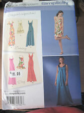 NEW SIMPLICITY SEWING PATTERN 2582 FORMAL / PARTY DRESS SZ 6-22 UNCUT