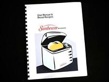 Sunbeam Oster Bread Maker Machine Directions Instruction Manuals Recipes Various