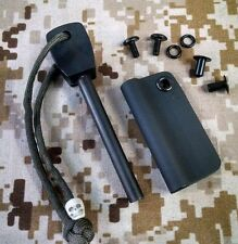 Survival Firesteel and Kydex Loop - attaches to your bushcraft knife sheath