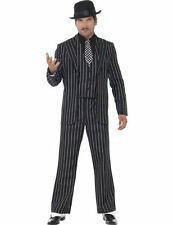 Adult Mens Gangster Zoot Suit 1920s Fancy Dress Costume Outfit