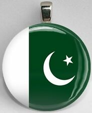 Handmade Interchangeable Magnetic Pakistan Flag World Pendant Necklace