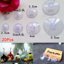 20 Pack Suction Cups Clip Plastic Rubber Window Suckers Aquarium Home Car Decor