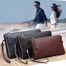 Men's Genuine Leather Business Clutch Tote Bag Handbag Wallet Card Cash Holder