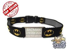 """Batman Superman Personalized Dog Collar w/ Engraved 304 Stainless Steel Tag 3/4"""""""