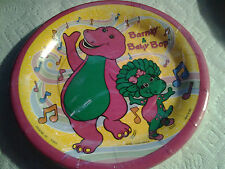 Barney & Baby Bop Lunch And Dessert Plates