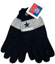 NEW Navy & Gray Dallas Cowboys Warm Insulated Thinsulate Embroidered Knit Gloves