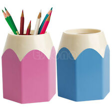Pink/Blue Pencil Makeup Brush Holder Pen Cup Box Desk Organizer Kids Gift New