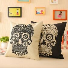 New Cotton Linen Throw Pillow Covers Skulls Decorative Pillows Inserts & Covers