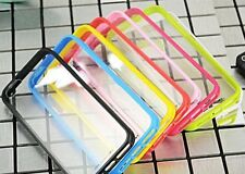 Soft Bumper/Clear Hard Back Case for iPhone 4, 4S, iPhone 5,5S Protective Cover