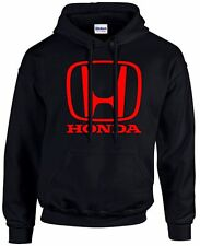 HONDA Racing Hoodie Sweatshirt BLACK with RED H