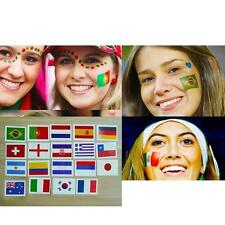 HOT 5World Cup Nation Flag Pattern Transfer tattoos Suit Face Hand Body Stickers