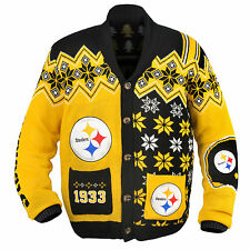 Pittsburgh Steelers NFL Adult Ugly Cardigan Sweater