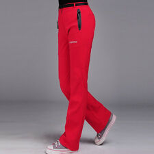 Winter Outdoor Thick Women Travel Waterproof  Warm Long Pants Trousers