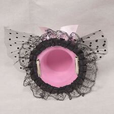 Fashion Women Bow Hair Clip Lace Feather Mini Top Hat Fascinator Fancy Party New