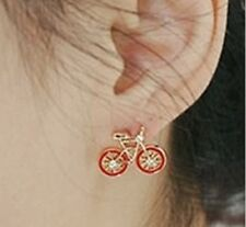 bicycle STUD earrings BICYCLE jewellery rockabilly vintage look earrings