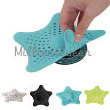 Bathroom Shower Drain Cover Starfish Hair Filter Sink Strainer 1pc 4 Colors