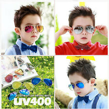 Cool Unisex Girl Boy Retro Aviator Sunglasses For Children Kids Gift Metal Frame