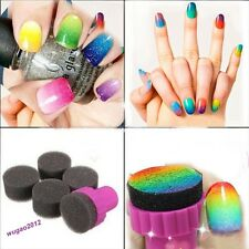 Nail Art Sponge Stamp Stamping Polish Template Transfer Manicure DIY Tools 1PCS