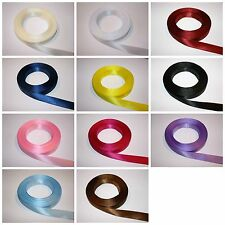 Finest Quality 15mm Double Faced Satin Ribbon Reel 25m, 50m, 75m, 100m
