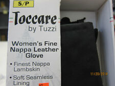 Toccare By Tuzzi Woman's Fine Nappa Leather Gloves- Black - No Tags