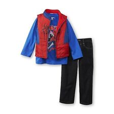 Marvel Comics Spider-Man Toddler Boy's Insulated Vest, T-Shirt & Jeans 4T,2T NWT