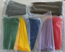 100pcs Cable tie nylon zip lock 4 x 200mm ~ 8 in inch with 10 color  50 lbs