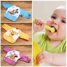 NEW Cute Cartoon Children Baby Waterproof Long Sleeve Self Feeding Bib Apron SC