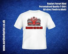 **Kids Personalised Koolart Ferrari Kimi T-Shirt - Christmas Present**