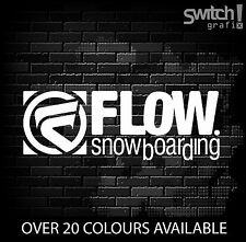 FLOW Snowboading Sticker  Snowboard Decal  Ski  Skateboard VW