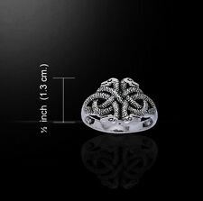 CELTIC SNAKES/INFINITY KNOT Ring Sterling Silver