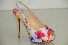 NEW Christian Louboutin VENDOME SLING NODO Satin Bouquet Bow Shoes Sandal 38
