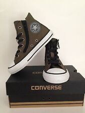 Converse CT All Star Youth's Dark Green Double-Zip High-Top Sneaker SZ 11