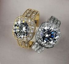 18k Gold or Platinum Diamond Ring 4 Carat For Women All Sizes